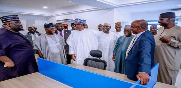 Buhari visits his Abuja campaign office
