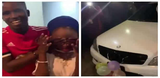 19-yr-old boy surprises his girlfriend with a benz, iWatch and iPhone X Max for her 16th birthday
