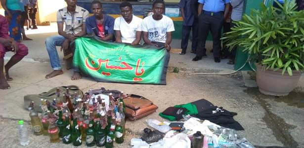 all the weapons found on protesting shiite members in Abuja