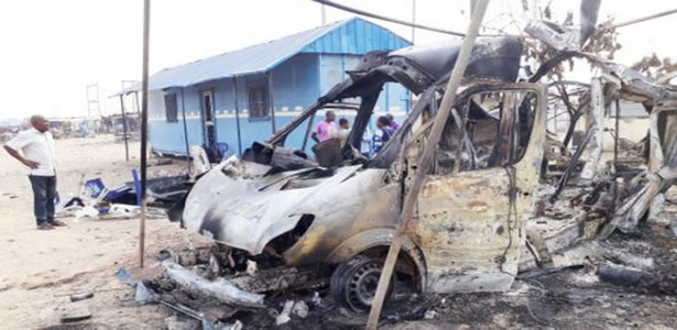 Mob attacks FRSC duty post, burn ambulance vehicle