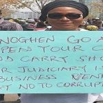 Abuja residents stage protest in support of Onnoghen's suspension