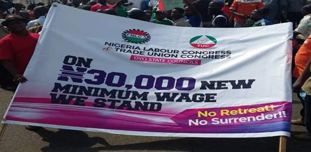 Minimum Wage: Photos from the NLC rally in Lagos and Abuja