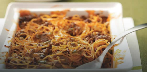 beef spaghetti casserole for dinner